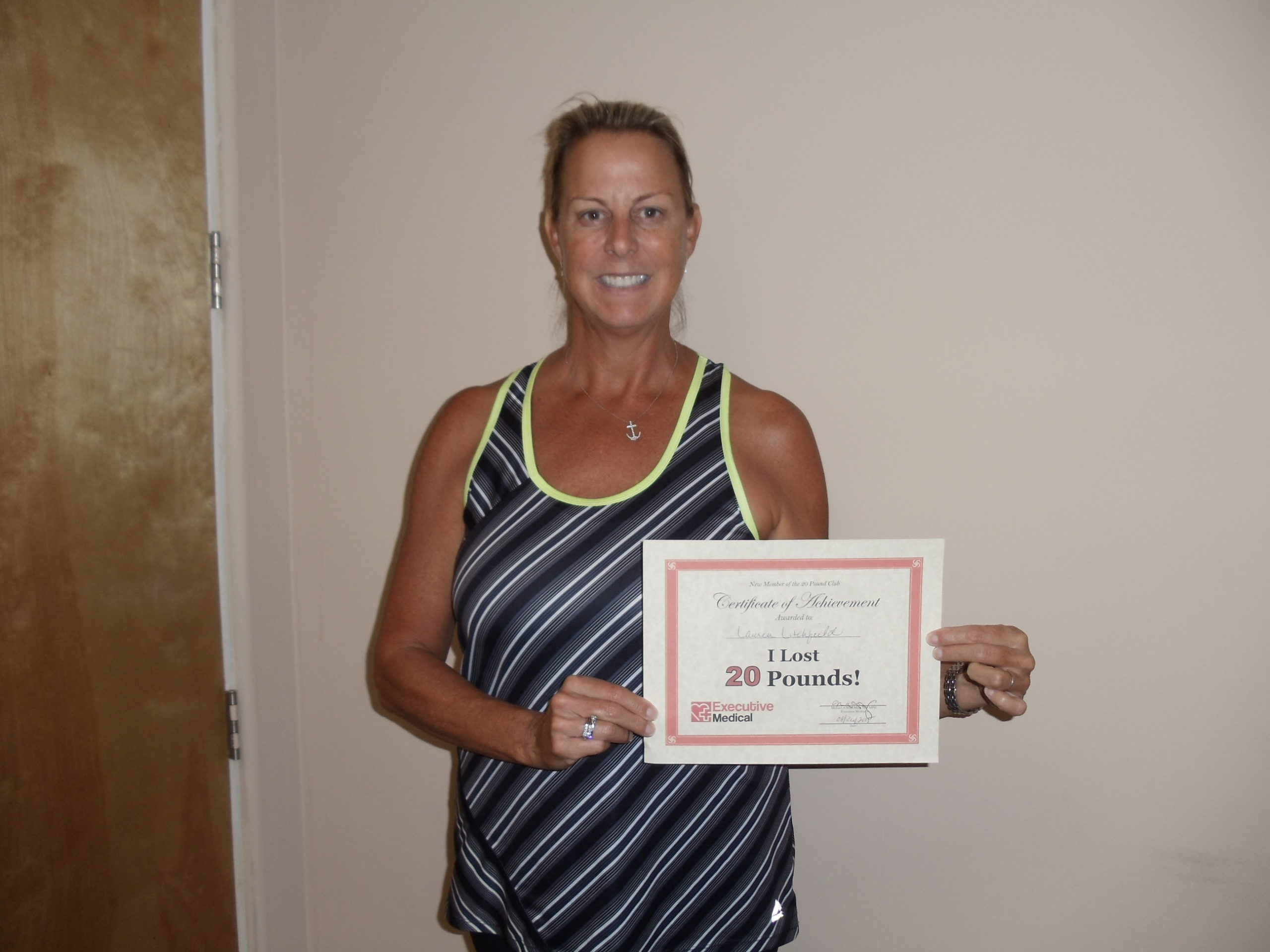 Patient lost 30 pounds in weight loss program!