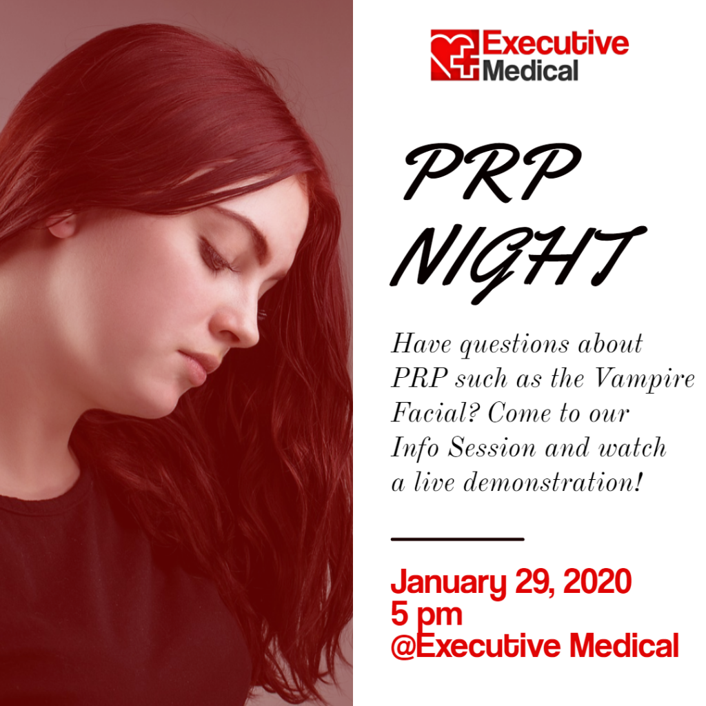 PRP Night January 29, 2020 5 pm Executive Medical