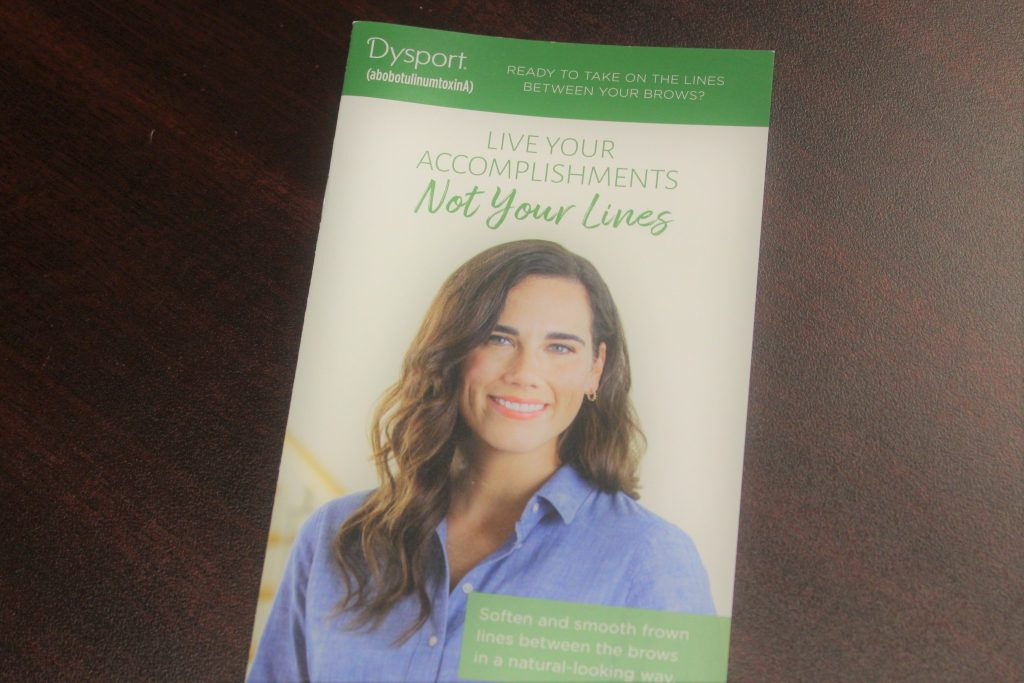 Dysport Flyer with Woman Smiling